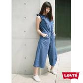 Levis 女款 連身褲 / 無袖寬管褲 / 線條荷葉袖