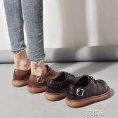 布洛克鞋ins小皮鞋女復古秋季學生韓版百搭ulzzang英倫學院風chic   艾維朵