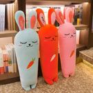 抱枕胡蘿蔔抱枕長條枕毛絨玩具可愛兔子公仔睡覺床上玩偶布娃娃男女生 貝芙莉LX