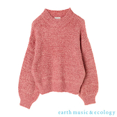 「Hot item」柔軟毛絨絨蓬袖針織上衣 - earth music&ecology