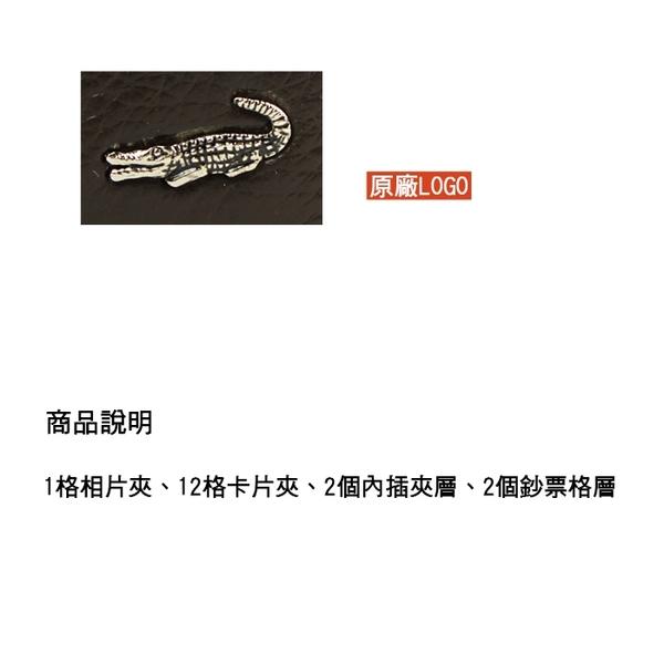 【橘子包包館】Crocodile 鱷魚 自然摔紋 真皮 12卡相片夾 男用短夾 0203-11032 正式授權經銷商