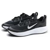 NIKE 慢跑鞋 WEARAllDAY GS 黑白 網布 白銀LOGO 運動 健身 女 (布魯克林) CJ3816-002