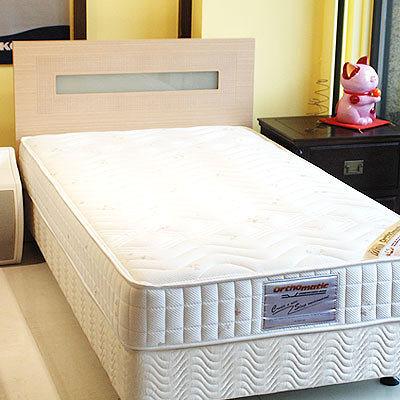 美國Orthomatic[Sleepy Firm]5x6.2尺雙人獨立筒床墊+透氣掀床, 送床包式保潔墊
