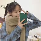 圍巾針織百搭純色保暖長款BF小清新可愛圍脖 -X-1200