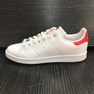 【adidas】休閒鞋 Stan Smith 復古 女鞋 愛迪達 低筒 運動 經典 穿搭推薦 白 紅(M20326)