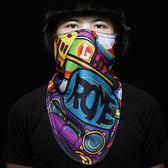 防風面罩 冬單雙板滑雪面罩男女抓絨加厚兒童防風護臉騎行摩托車防寒三角巾【美物居家館】