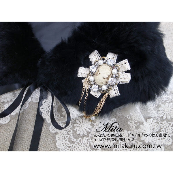 *Mita*MI-0511 鑽飾蕾絲別針