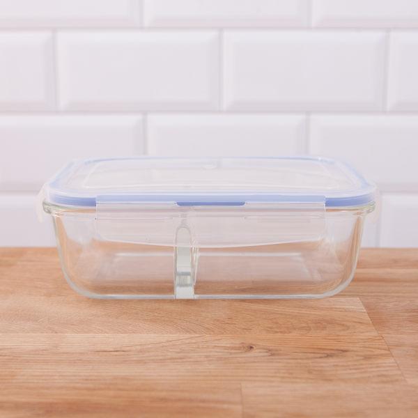 GoodUse耐熱玻璃兩格保鮮盒1180ml-生活工場