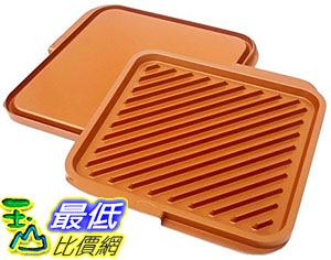 [8美國直購] 陶瓷不沾鍋 Gotham Steel Nonstick Copper Double Grill Griddle Reversible with Ti-Cerama Coating 2-Pack