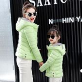 棉衣女短款秋冬學生修身棉服百搭連帽母女小棉襖時尚親子外套