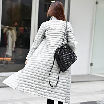 羽絨外套 中長款-韓版保暖修身顯瘦女外套3色72i29[巴黎精品]