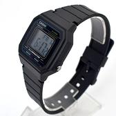 CASIO手錶 復古藍線方型電子膠錶NECD16