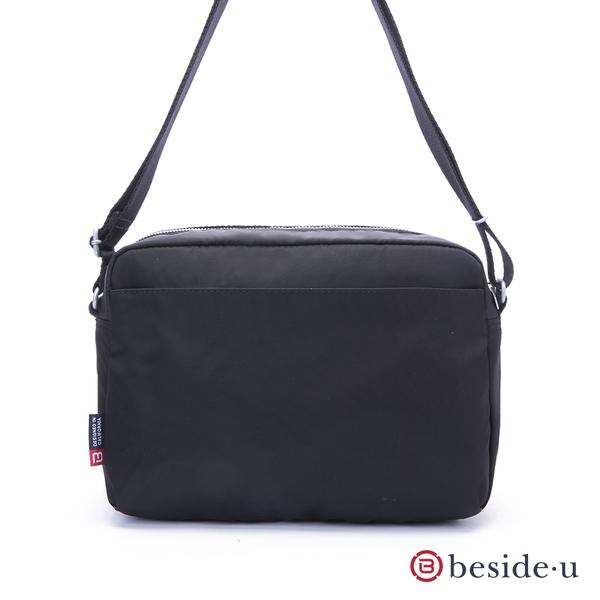 beside u BAP 中性多隔層手機包小包側背包-黑色 原廠公司貨