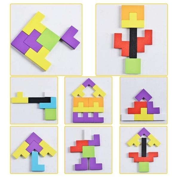 ★幼兒園寶寶益智力早教拼圖兒童積木玩具女孩3-4-5-6周歲7歲男孩子