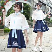 改良漢服 2018新款民族風女裝漢元素日常套裝 GY930『寶貝兒童裝』
