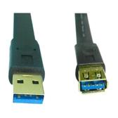 USB 3.0 扁型 A公/A母延長線鍍金 1M