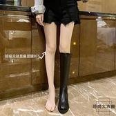 騎士靴女長靴長筒后拉鏈高筒靴子不過膝馬丁靴【時尚大衣櫥】