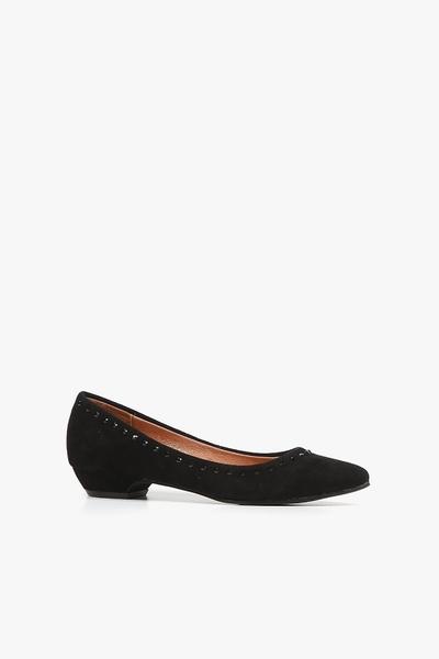 ALL BLACK  Wide Kitten S 平底鞋  (黑)