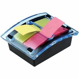 3M 可再貼抽取式便條台 DS123-2 附小便條紙二本(顏色隨機)