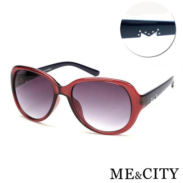 ME&CITY 精緻M字母鑲鑽太陽眼鏡 百搭時尚款 抗UV400 (ME 1215 E01)