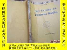 二手書博民逛書店laser罕見recording and information