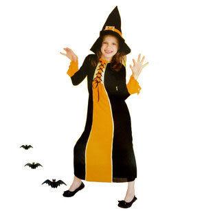 萬聖節兒童服裝 小歌德女巫265g