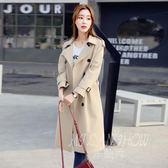 風衣 中長款韓版寬松休閒雙排扣外套 大衣