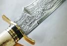 郭常喜與興達刀鋪-鹿角藝術獵刀(A0291)銅護手+黑檀木+鹿角柄