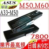 ASUS 電池(九芯最高規)-華碩 電池- M50,M50SV,M50V,M50Q,M50SR,M70SA,M70SR,A32-M50,A33-M50 ,15G10N373800