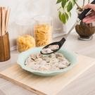 碟子 家用塑料餃子盤帶盤托餐具雙層吃水餃盤子圓形瀝水 莎瓦迪卡