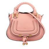 【CHLOE】Mini Marcie 雙把手提/斜背二用包(粉色) CHC20SS8271616L5