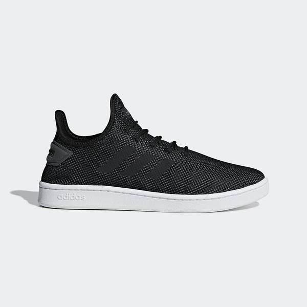Adidas Court Adapt [F36418] 男鞋 運動 休閒 襪套 簡約 透氣 球鞋 穿搭 愛迪達 黑灰