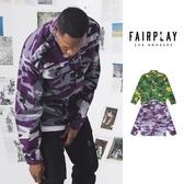 【GT】FairPlay Cain 紫綠 外套 夾克 防風 機能 軍裝 工裝 滿版 迷彩 美牌 多口袋