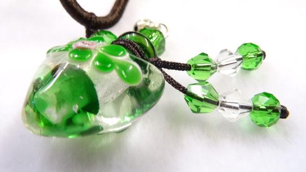 【Ruby工作坊】NO.34G綠精油瓶中國結項鍊