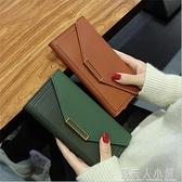 女士手拿錢包韓版時尚長款錢包少女小清新手機包潮流錢夾 母親節禮物