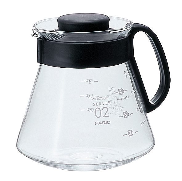 ☆HARIO☆耐熱微波咖啡壺XVD-60B【黑色600ml】