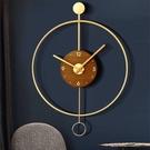 西班牙北歐極簡約家用客廳掛鐘現代輕奢鐘錶裝飾鐘創意個性掛墻錶  【端午節特惠】