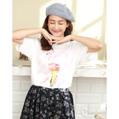 CANTWO冰淇淋激光炫彩印花T恤-共兩色