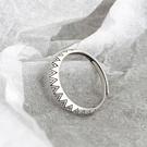 《 QBOX 》FASHION 飾品【RF172】精緻個性復古幾何菱形設計S925純銀/泰銀開口戒指