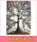 【萌萌噠】三星 Tab S2 9.7 T810/815  彩繪簡約保護套 超薄側翻皮套 卡通塗鴉 支架 插卡 磁扣 平板套