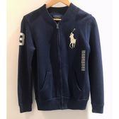 【蟹老闆】Ralph Lauren 童外套  大馬針織 深藍
