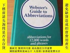 二手書博民逛書店Webster s罕見Guide to Abbreviation