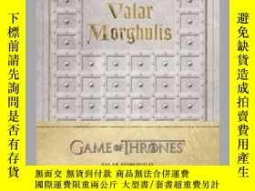 二手書博民逛書店Game罕見of Thrones: Valar Morghulis Hardcover Ruled Journal