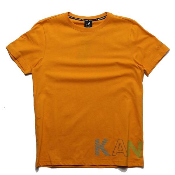 KANGOL 短袖 短T 芥黃 下擺英文LOGO 棉 休閒 男 (布魯克林) 6021102662