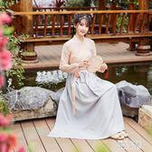 改良漢服女古裝中國風漢元素仙女學生交領齊腰襦裙子日常古風套裝 LJ3824【優品良鋪】