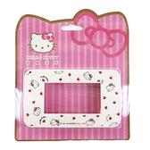小禮堂 Hello Kitty 三孔開關蓋板 (愛心款) 8021048-00004