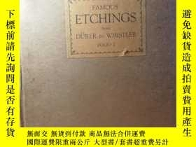 二手書博民逛書店FAMOUS罕見ETCHINGS FROM DURER TO W