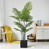 假盆景 仿真植物散尾葵鳳凰葵盆栽大型北歐風室內客廳假綠植裝飾落地擺件 檸檬衣舍