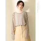【YPRA】秋季女裝新款寬鬆燈籠袖套頭上衣薄款長袖雪紡學生T恤打底小衫