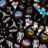 行李箱貼紙~14枚宇航員卡通個性貼紙宇宙NASA太空行李箱旅行箱筆記本防水貼-薇格嚴選